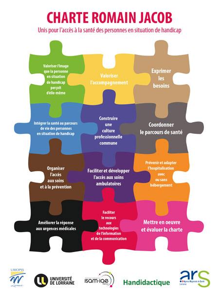 Pièces de puzzle pour illustrer la charte Romain Jacob